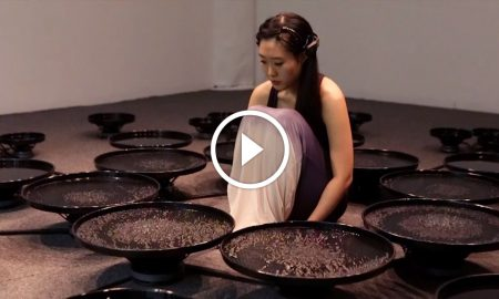 Watch Lisa Park as she puts her inner struggles on display in a beautiful geometrical water display!