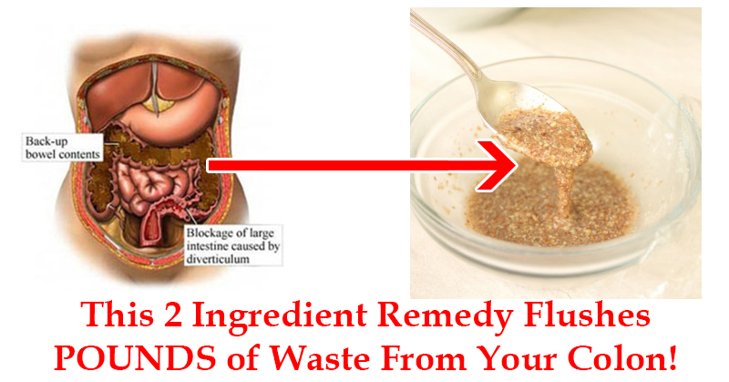 By Mixing These 2 Ingredients You Can Flush Pounds Of