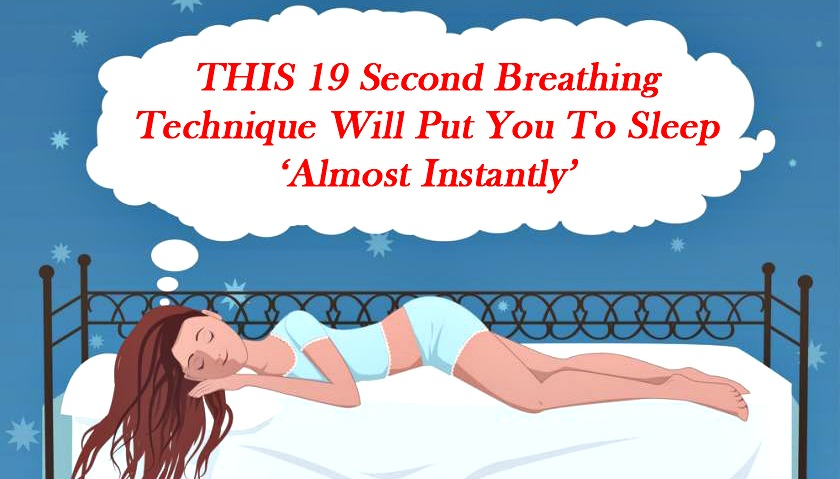 This 19 Second Breathing Technique Will Put You To Sleep
