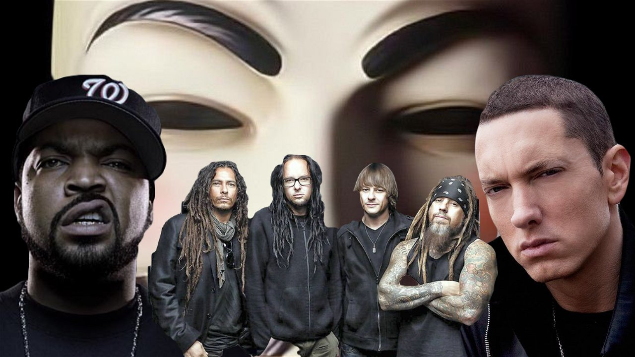 Eminem Ice Cube And Korn Team Up With Anonymous To Call